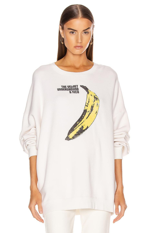 Image 1 of R13 Velvet Underground Oversized Hoodie in Ecru