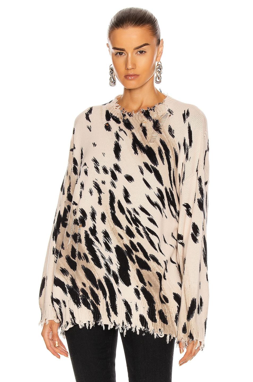 Image 1 of R13 Cheetah Oversized Sweater in Cheetah