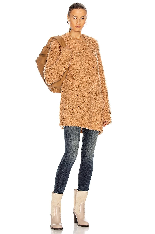 Image 1 of R13 Teddy Bear Crewneck Sweater in Oatmeal
