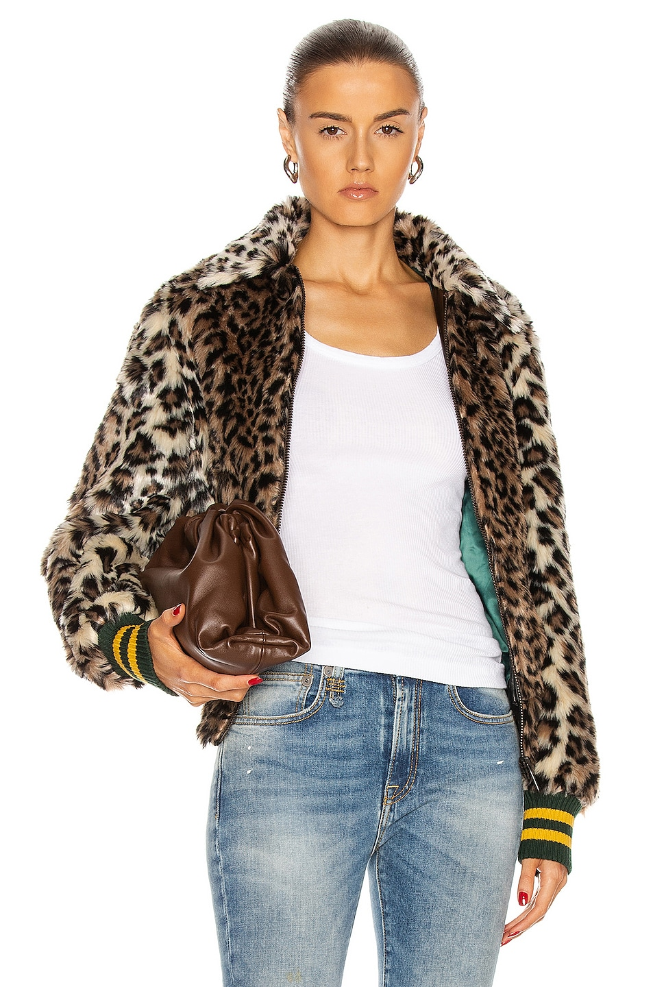 Image 1 of R13 Bomber Jacket in Leopard