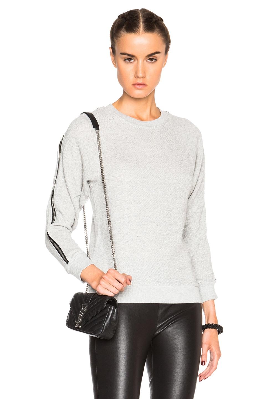 Image 1 of R13 Ziggy Sweatshirt in Heather Grey