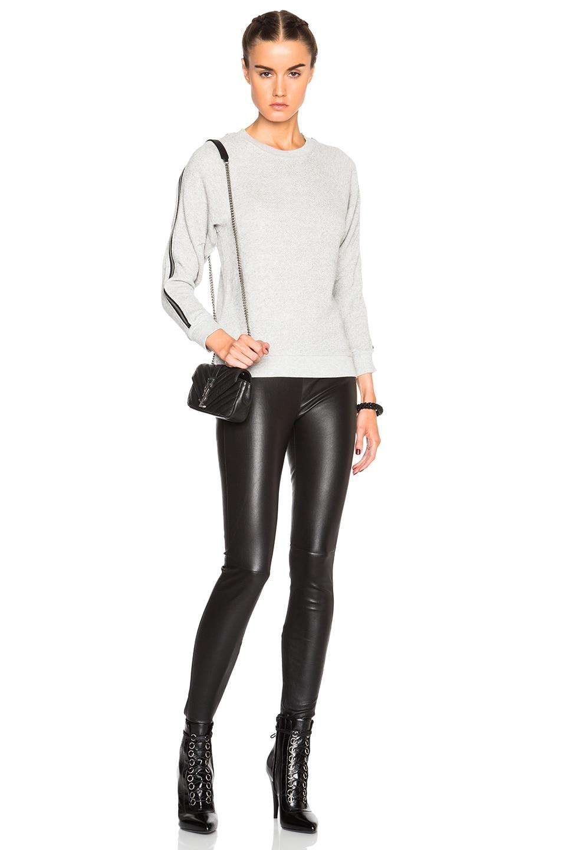 Image 5 of R13 Ziggy Sweatshirt in Heather Grey