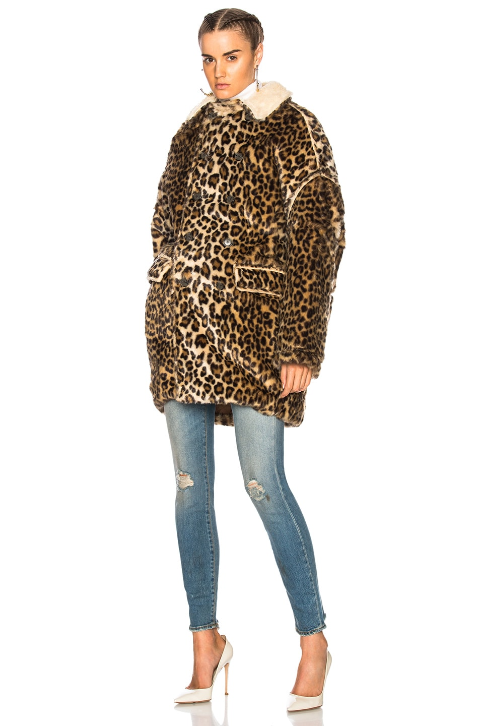 Image 2 of R13 Leopard Huntington Coat in Leopard