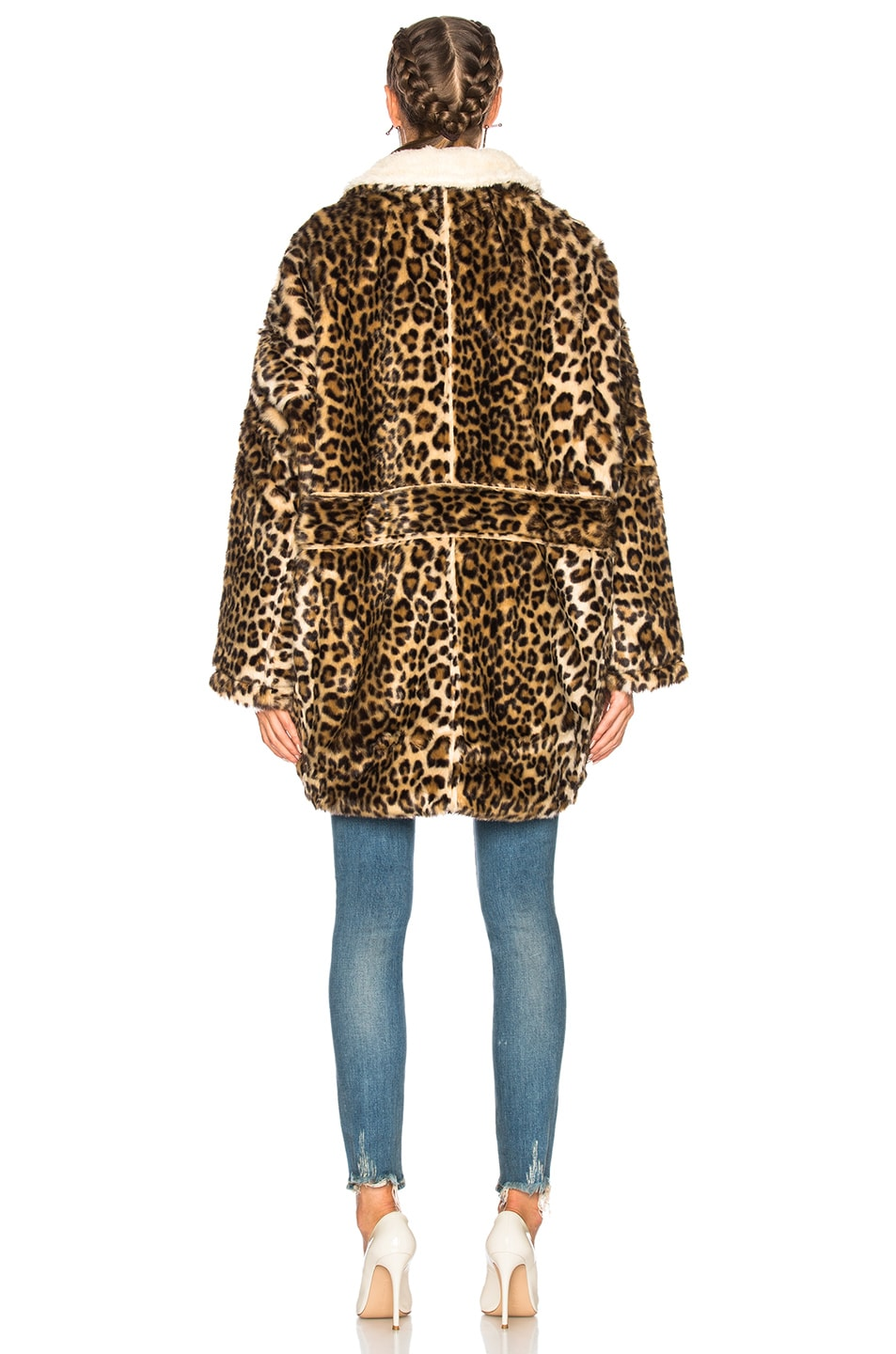 Image 4 of R13 Leopard Huntington Coat in Leopard