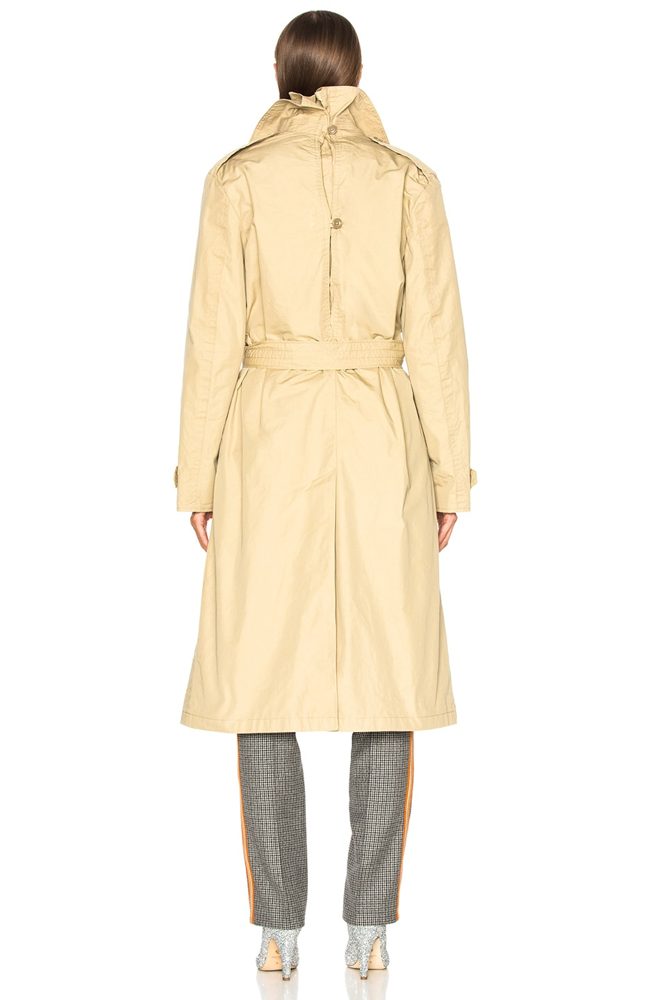 Image 4 of R13 Gusset Back Trench Coat in Khaki