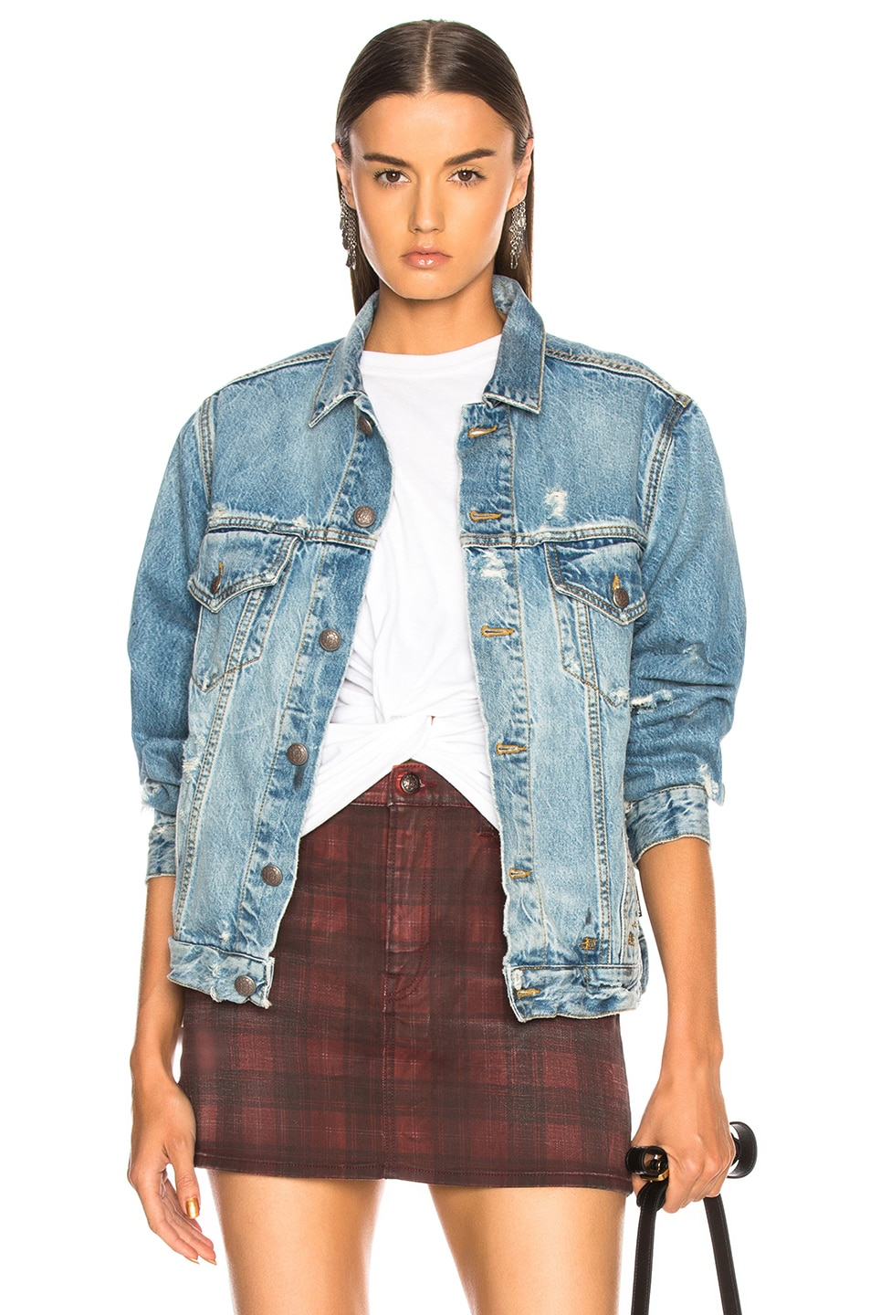 Image 1 of R13 Sky Trucker Jacket in Holly
