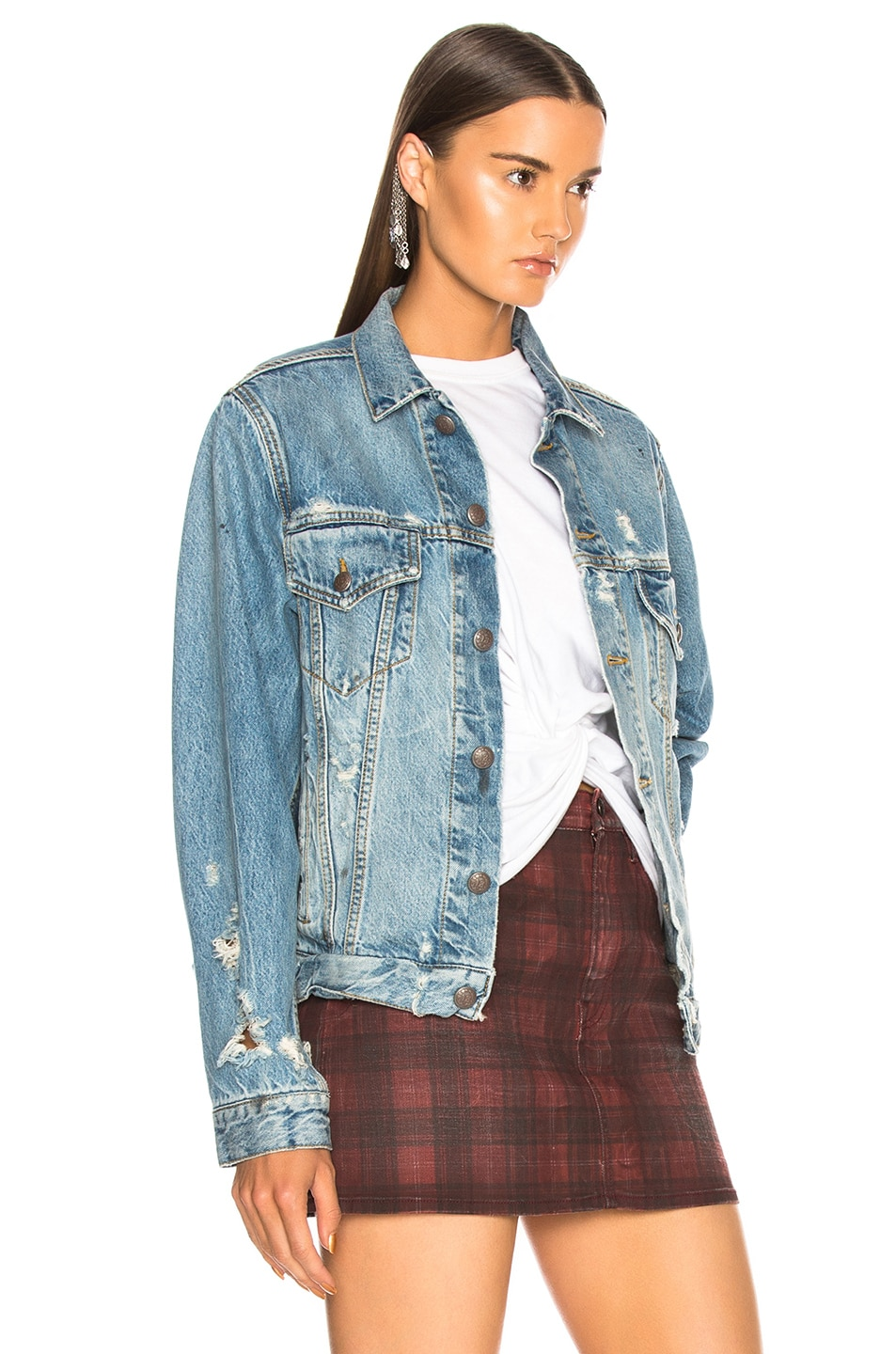 Image 2 of R13 Sky Trucker Jacket in Holly