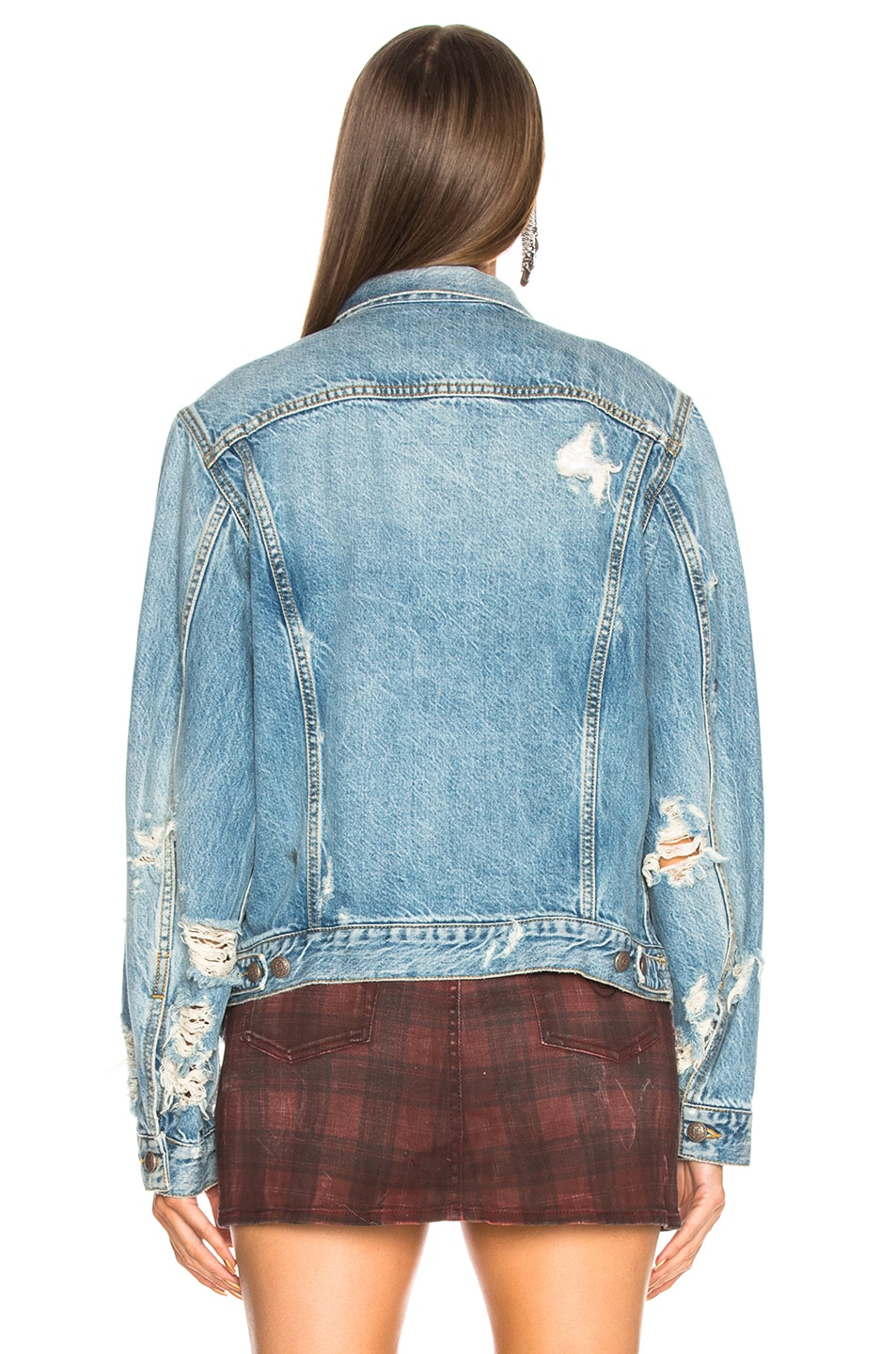 Image 3 of R13 Sky Trucker Jacket in Holly