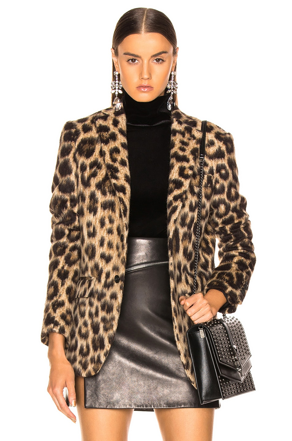 Image 1 of R13 Tailored Blazer in Leopard
