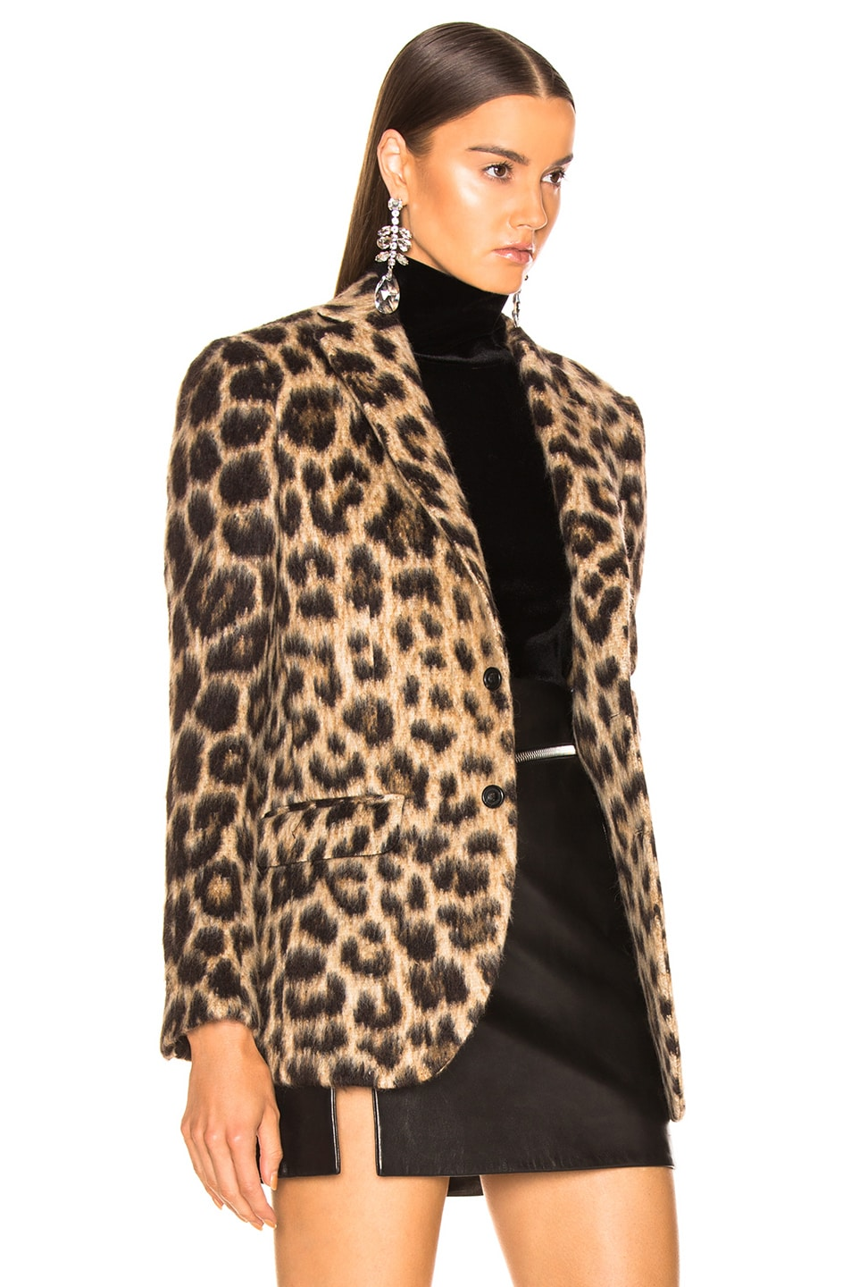 Image 3 of R13 Tailored Blazer in Leopard