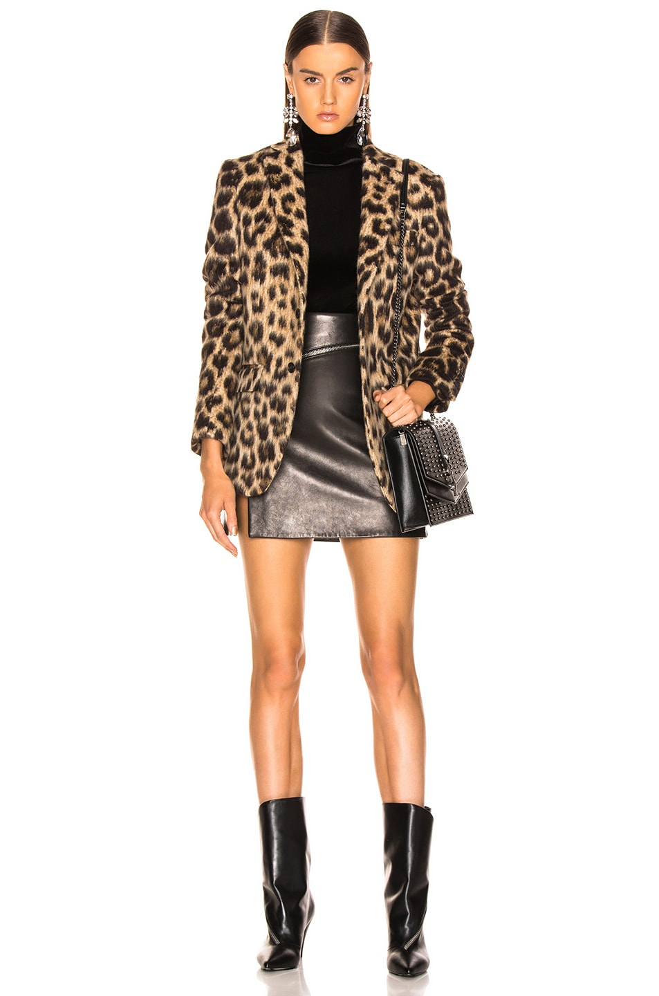 Image 5 of R13 Tailored Blazer in Leopard