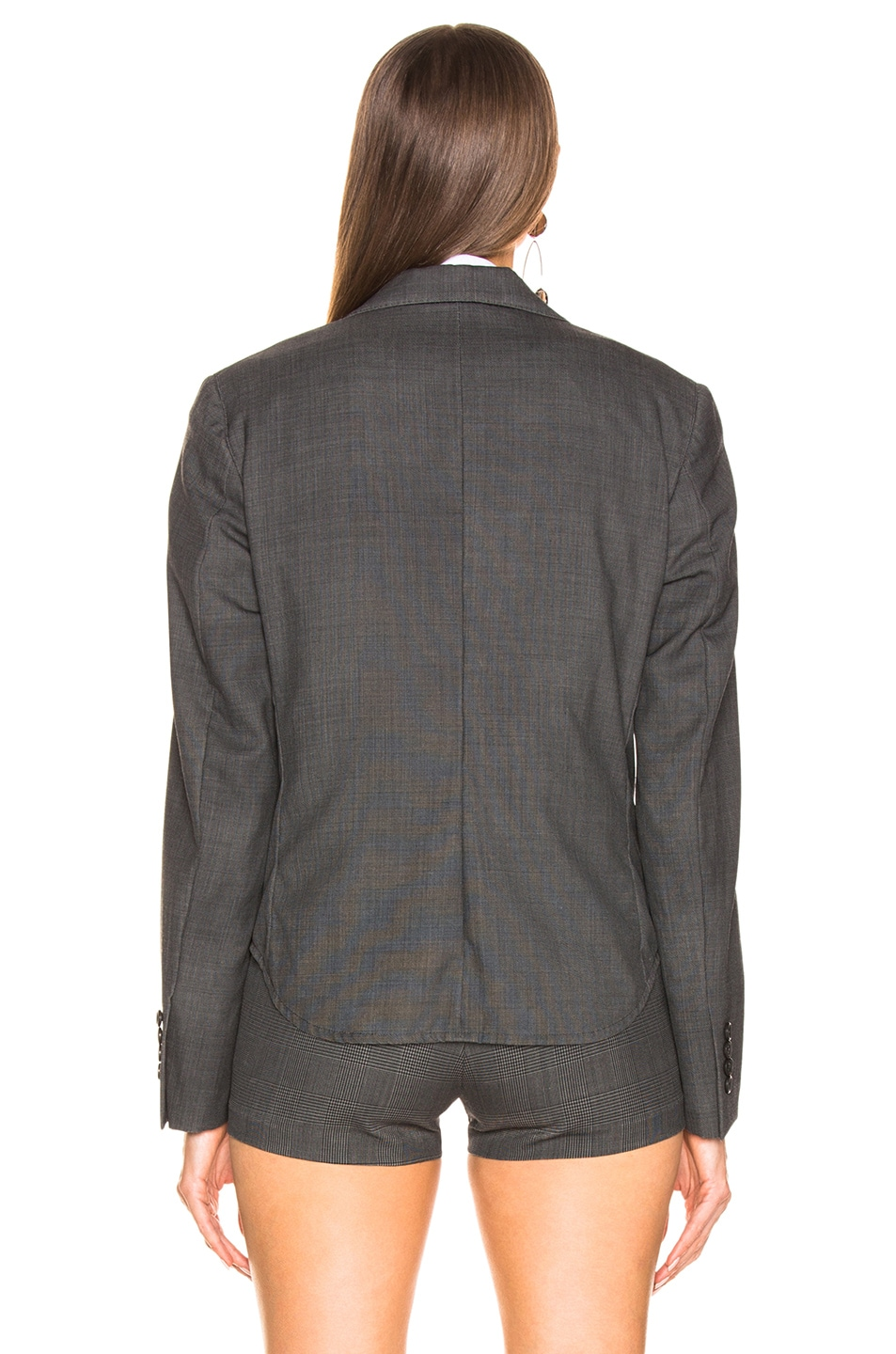 Image 4 of R13 Tucked Boyfriend Blazer in Grey