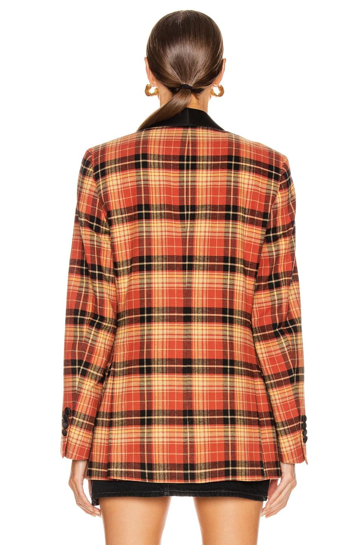 Image 4 of R13 Shawl Lapel Tuxedo Jacket in Orange Plaid