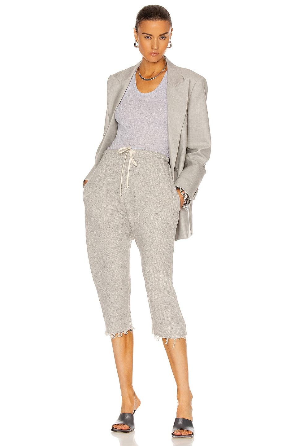 Image 4 of R13 Field Sweatpants in Heather Gray