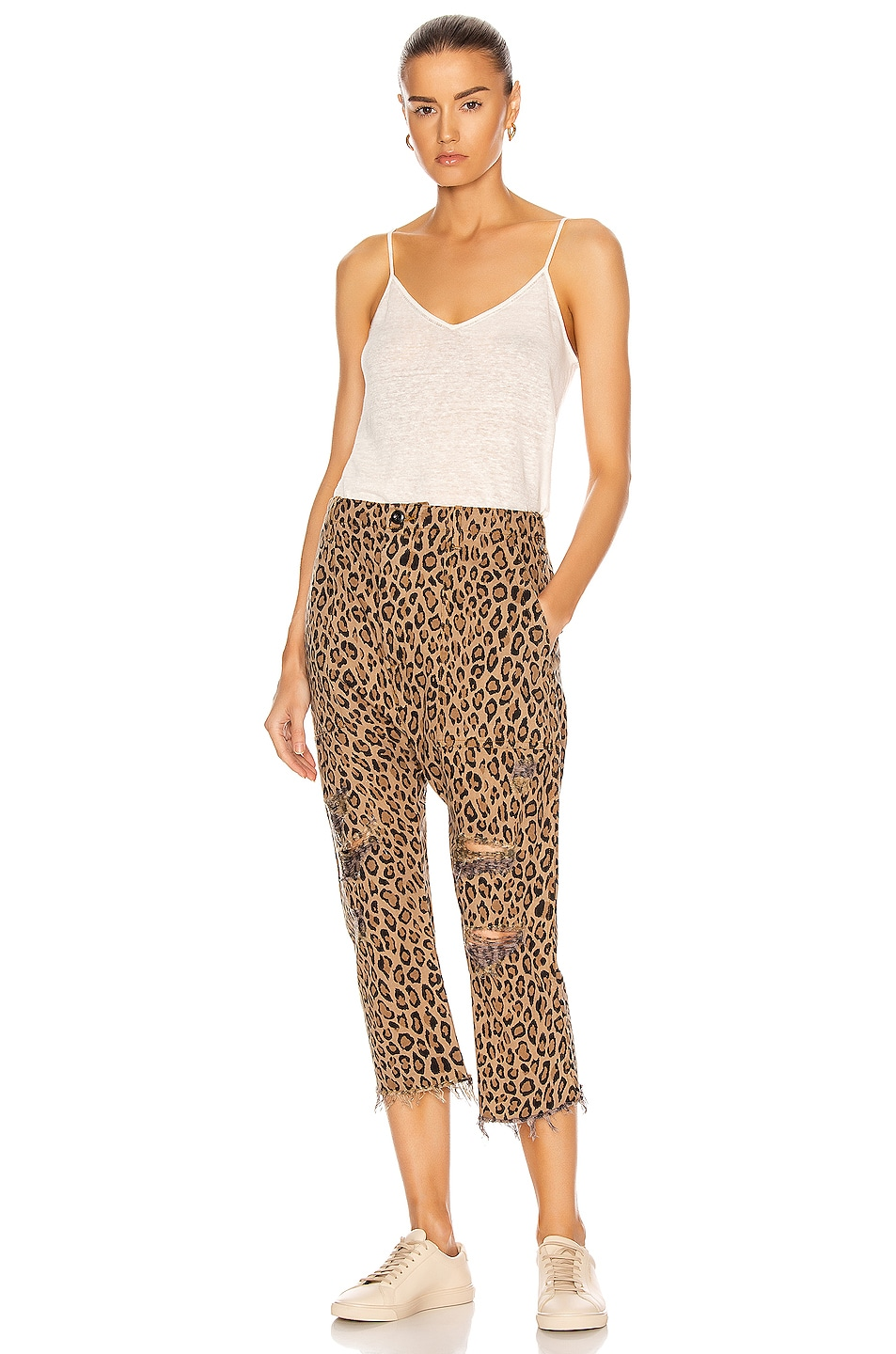 Image 4 of R13 Leopard Utility Pants in Leopard