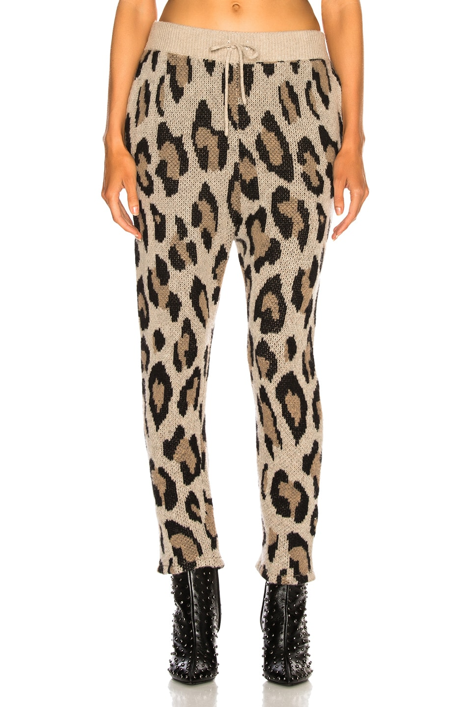 Image 1 of R13 Cashmere Leopard Pant in Leopard