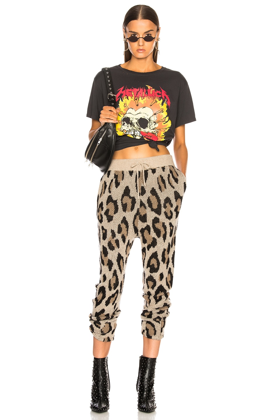 Image 4 of R13 Cashmere Leopard Pant in Leopard