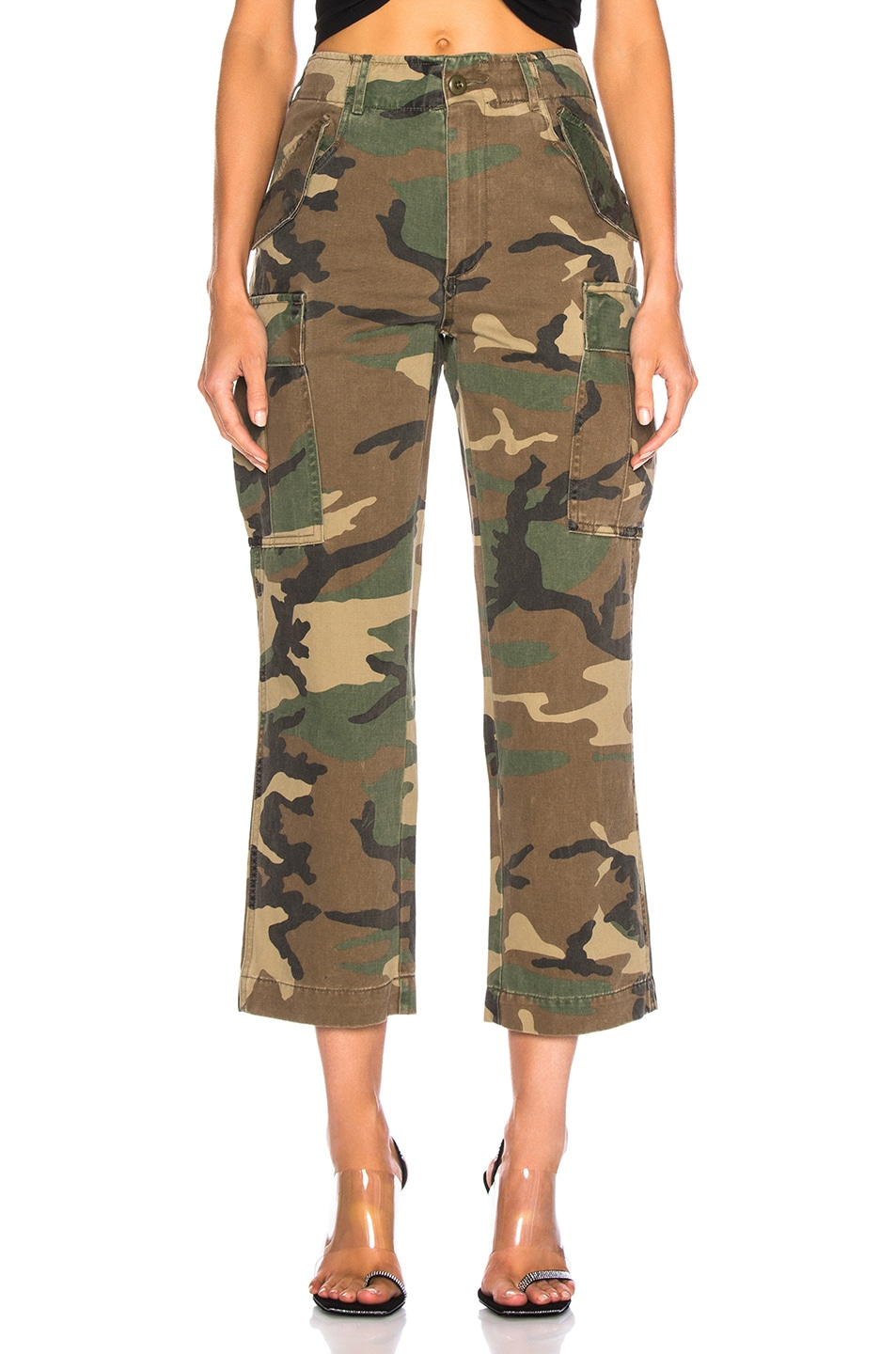 Image 1 of R13 Camo Straight Cargo Pant in Camo