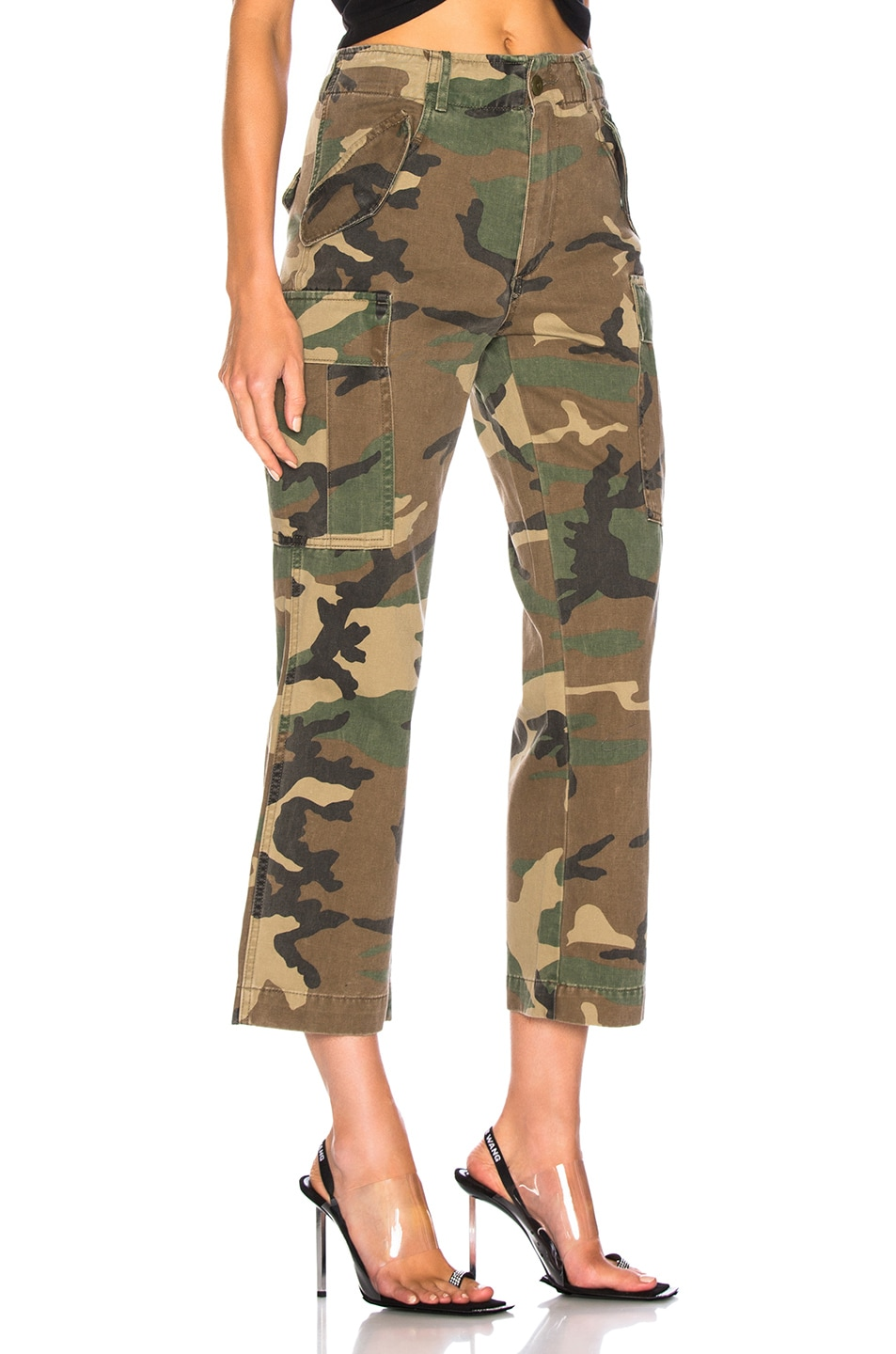 Image 2 of R13 Camo Straight Cargo Pant in Camo