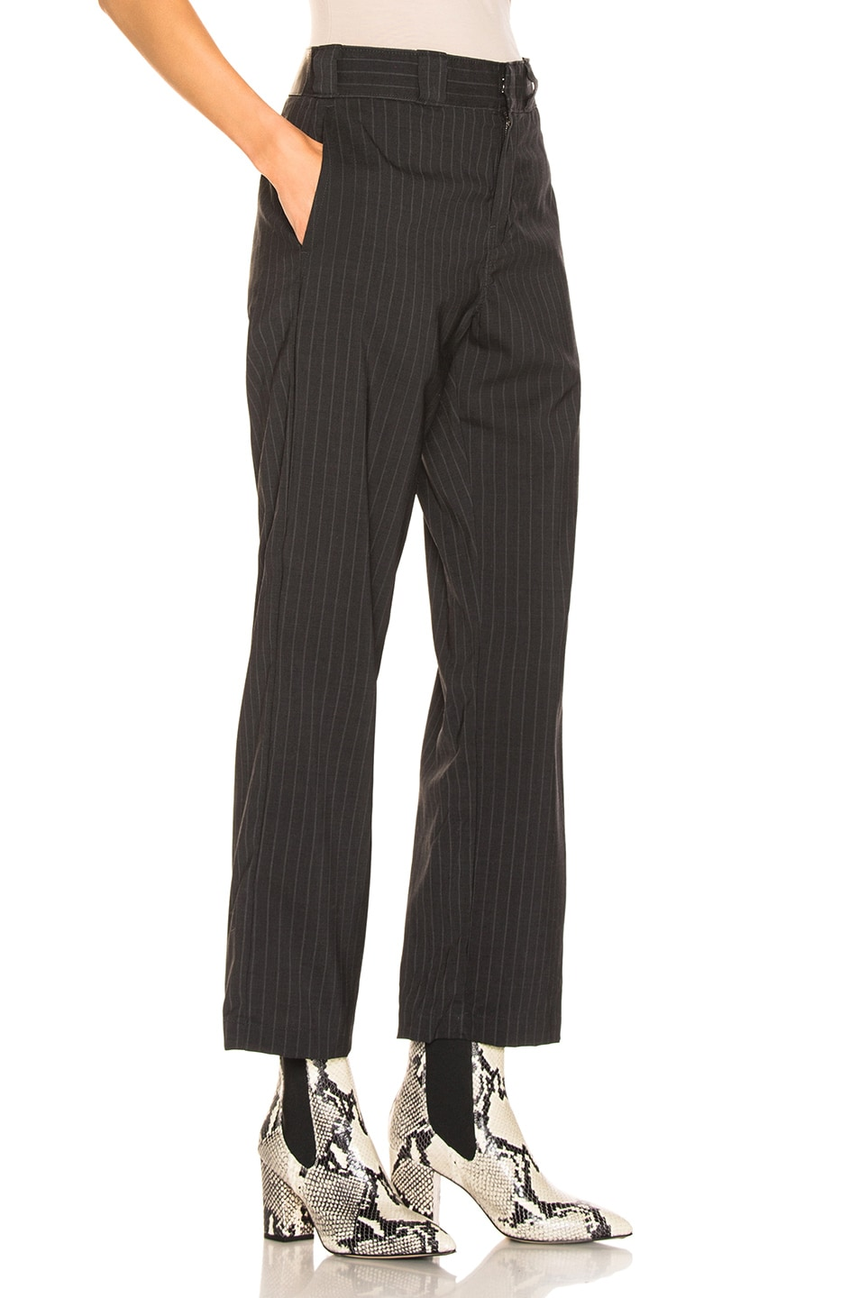 Image 2 of R13 Slouch Pant in Grey Stripe