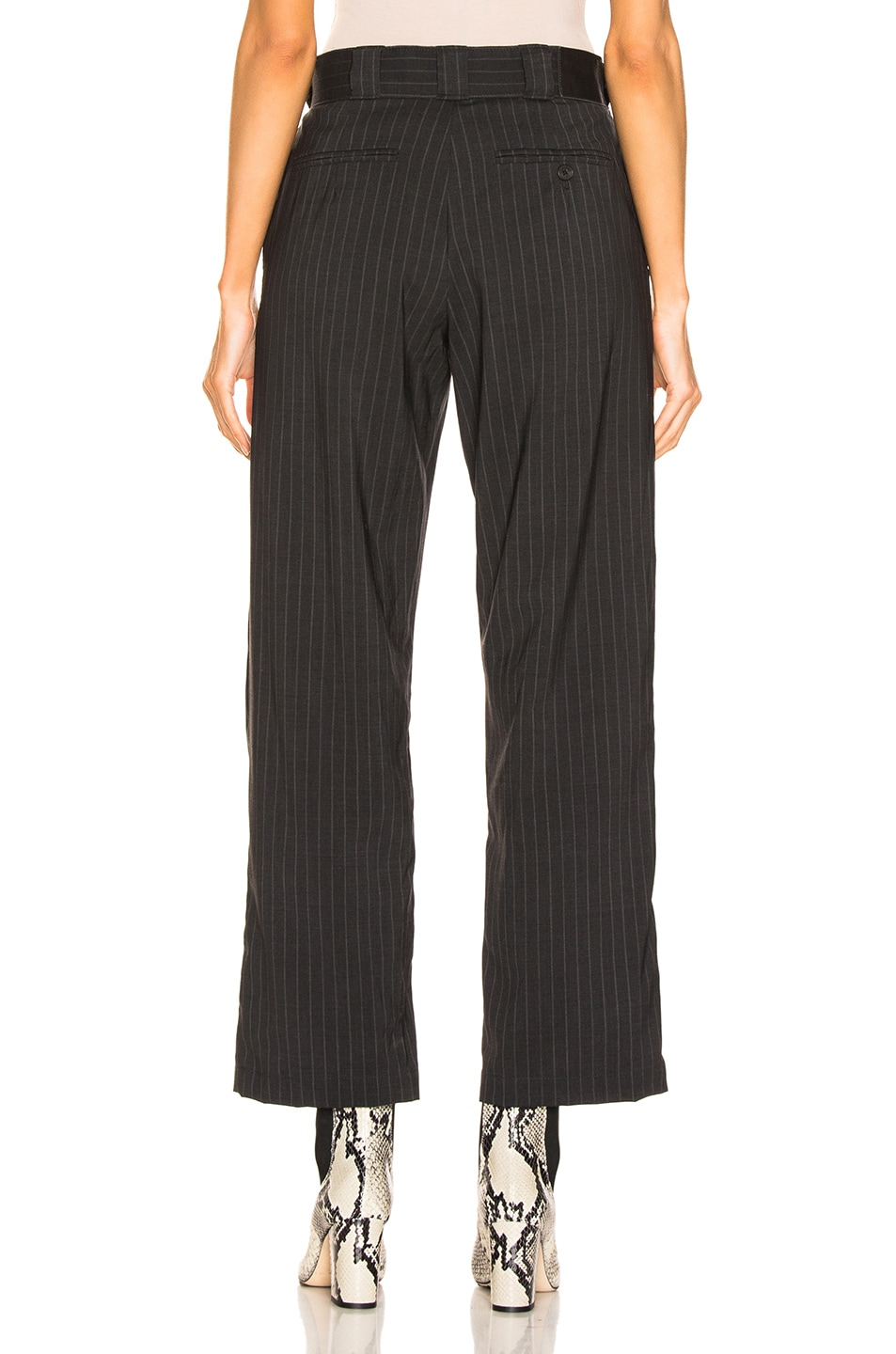 Image 3 of R13 Slouch Pant in Grey Stripe