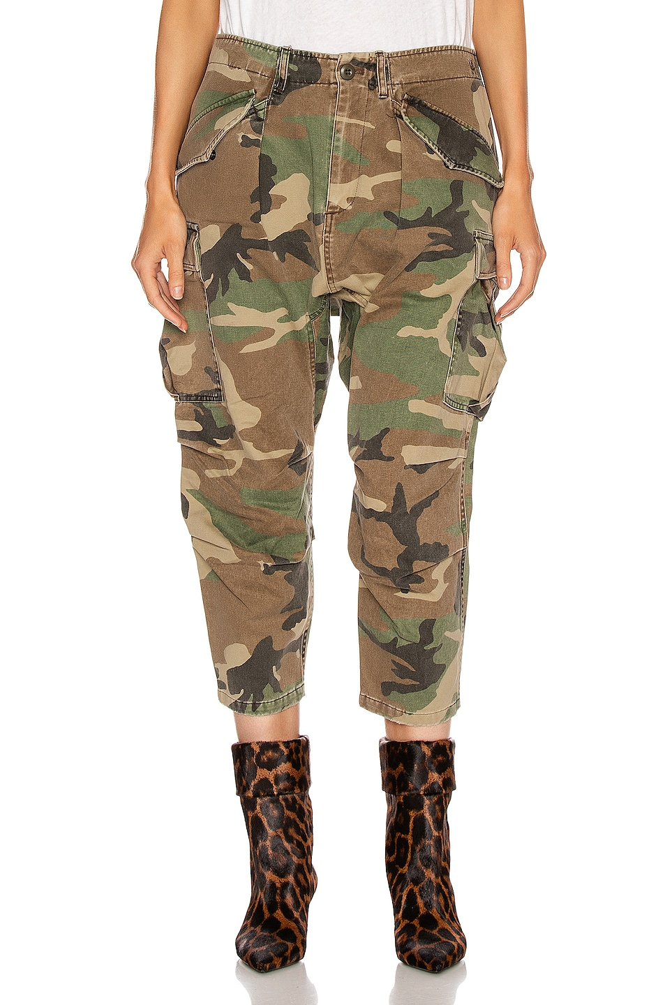 Image 1 of R13 Camo Cargo Pant in Camo