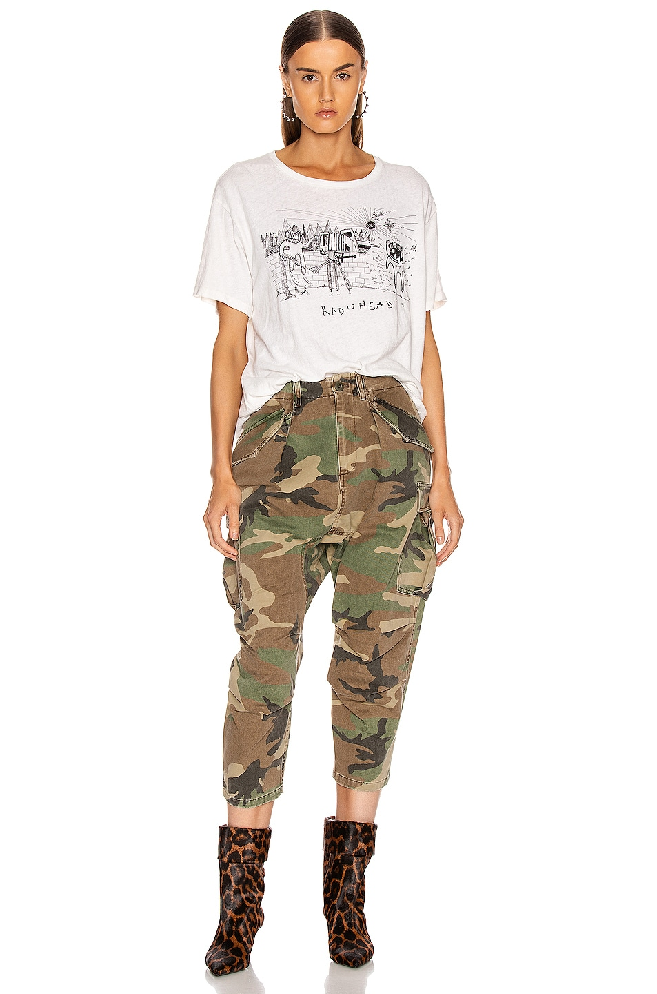 Image 4 of R13 Camo Cargo Pant in Camo