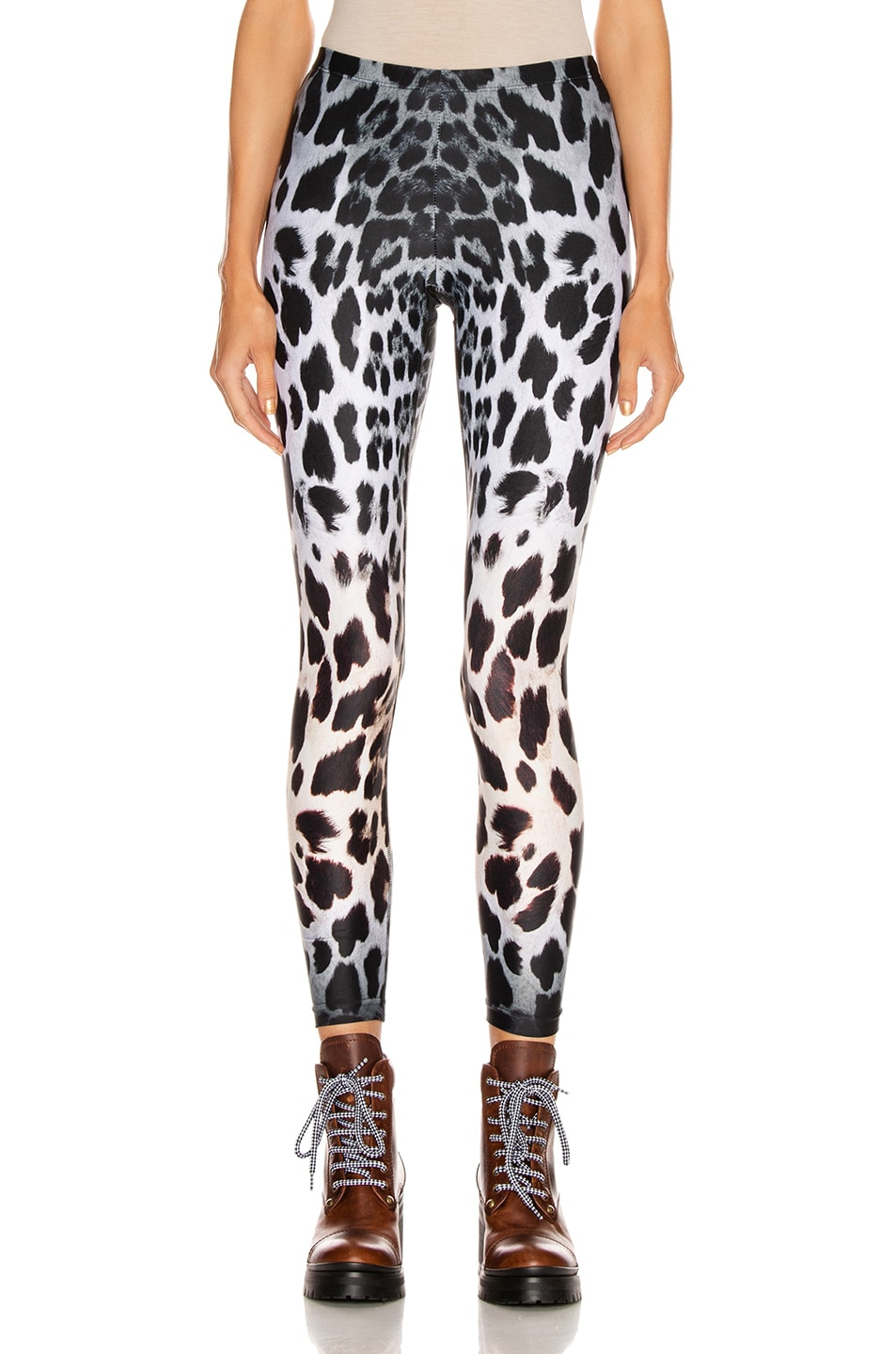 Image 1 of R13 Leopard Leggings in Faded Leopard
