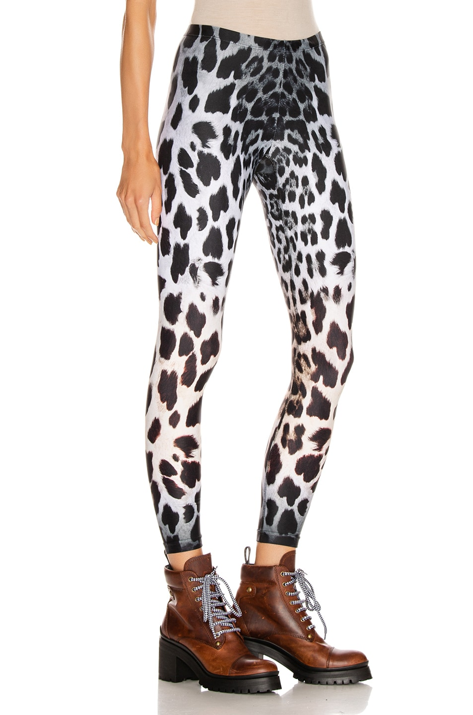 Image 2 of R13 Leopard Leggings in Faded Leopard