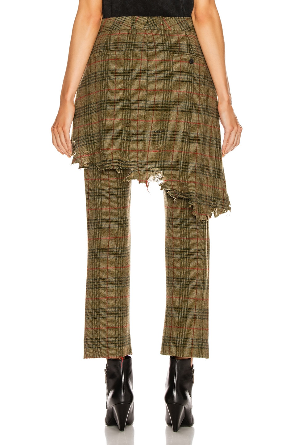Image 4 of R13 Double Classic Trouser in Green Plaid