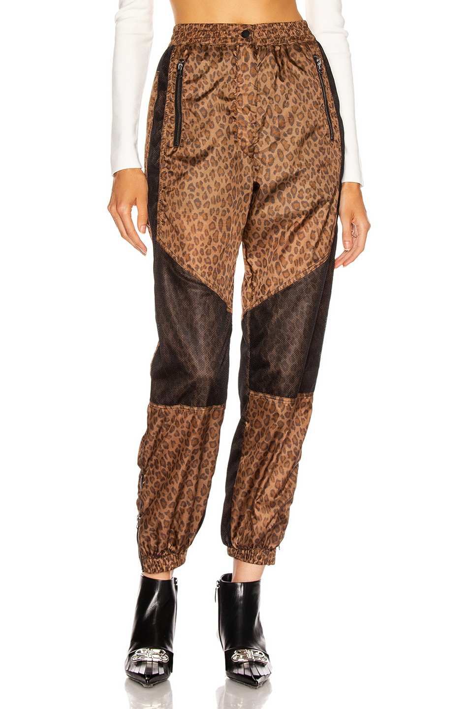 Image 1 of R13 Track Pant in Leopard