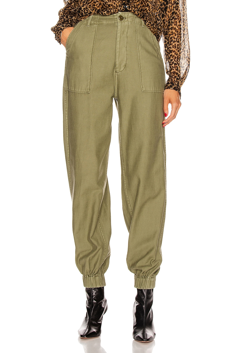 Image 1 of R13 Utility Jogger in Olive