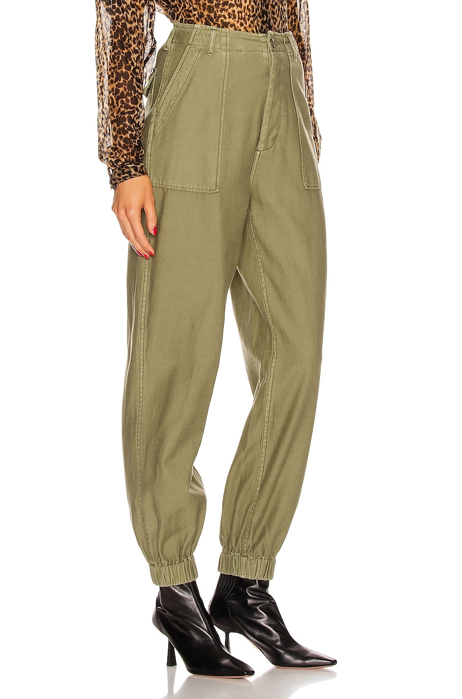 Image 2 of R13 Utility Jogger in Olive