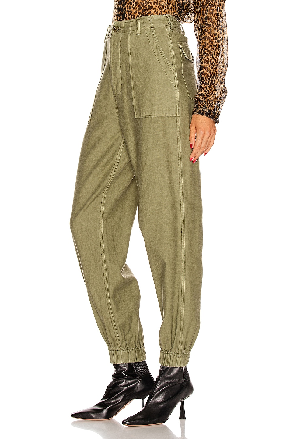 Image 3 of R13 Utility Jogger in Olive