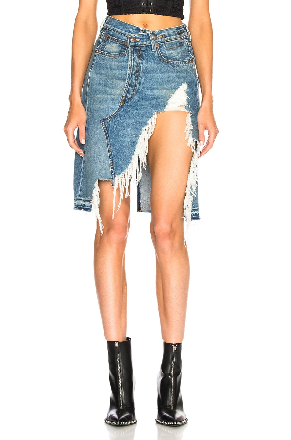 Image 1 of R13 Norbury Denim Skirt in Jasper
