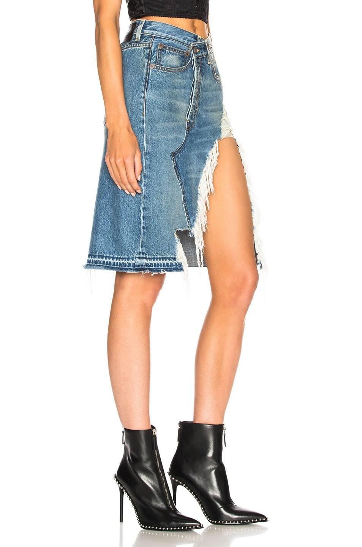 Image 2 of R13 Norbury Denim Skirt in Jasper
