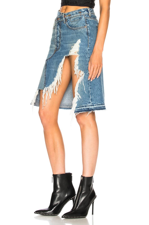 Image 3 of R13 Norbury Denim Skirt in Jasper