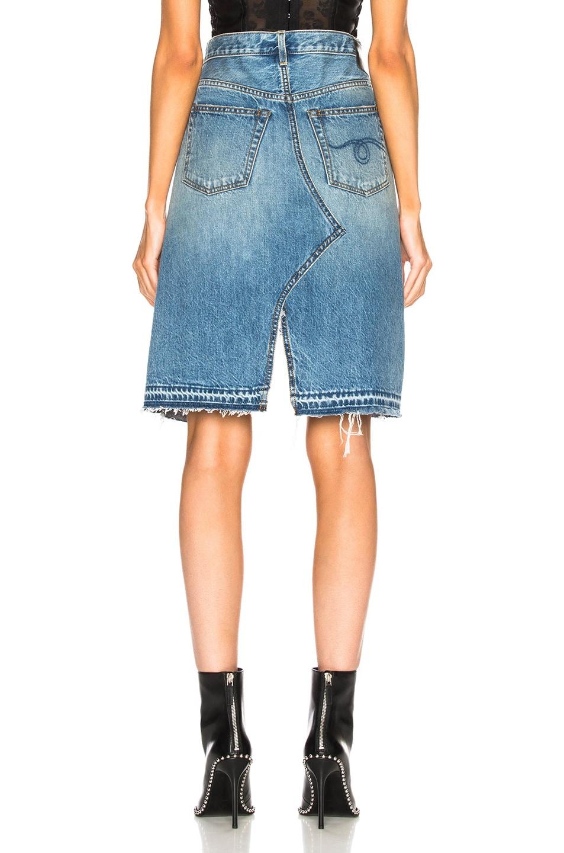 Image 4 of R13 Norbury Denim Skirt in Jasper