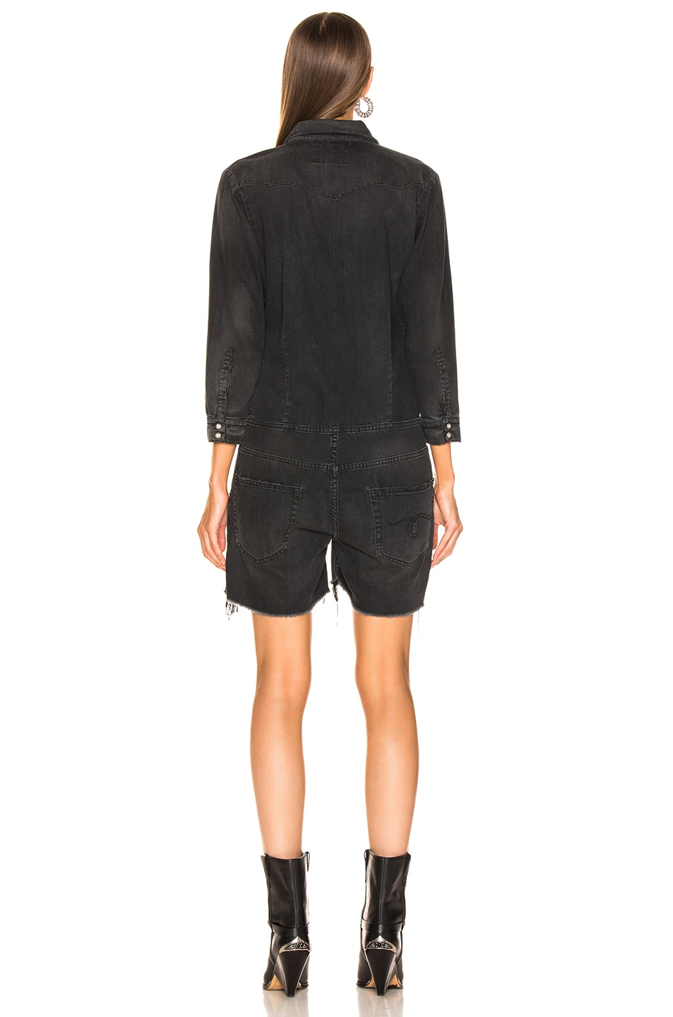 Image 3 of R13 Cowboy Romper in Toby Black