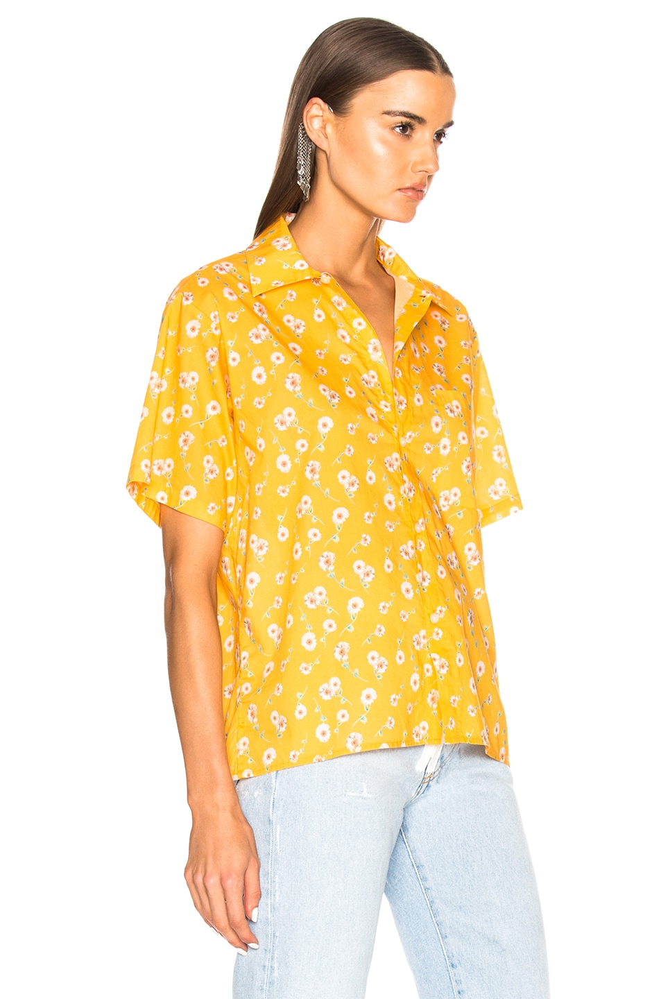 Image 2 of R13 Skater Shirt in Yellow Daisy