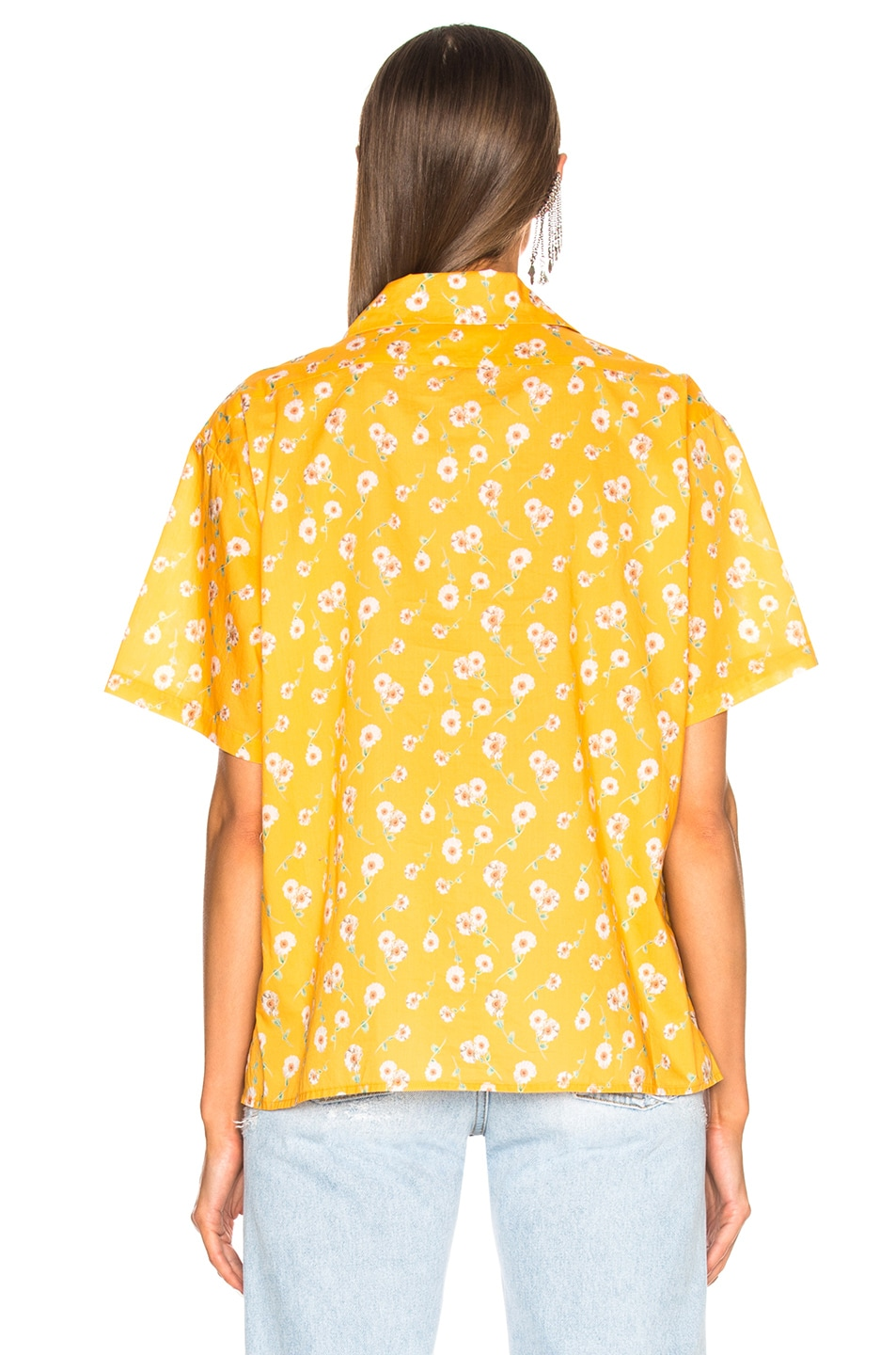 Image 3 of R13 Skater Shirt in Yellow Daisy