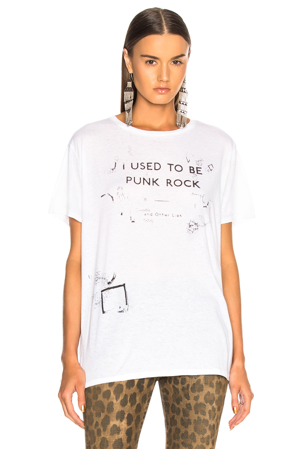 Image 2 of R13 Punk Rock Scribble Boy Tee in White