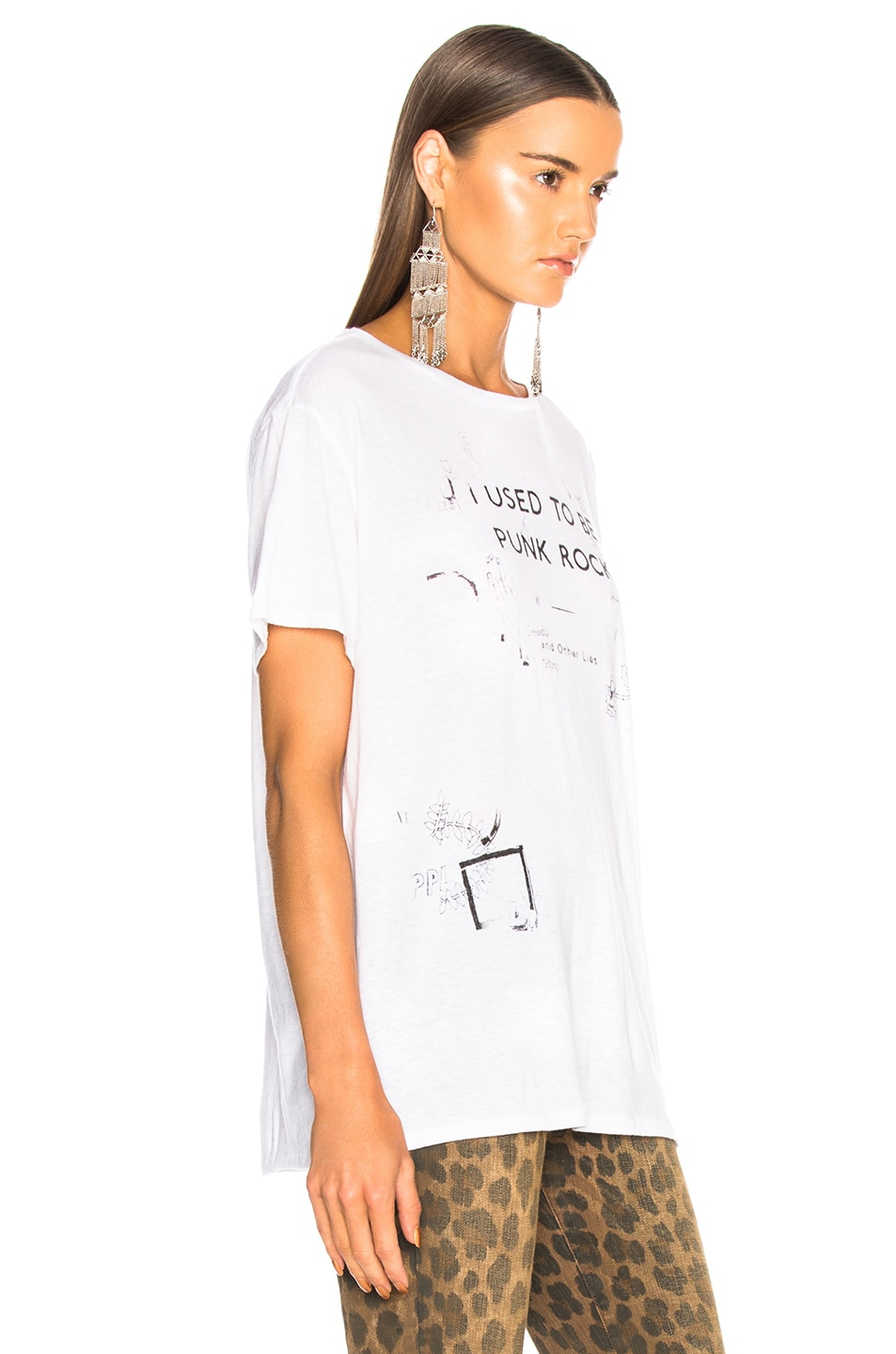 Image 3 of R13 Punk Rock Scribble Boy Tee in White
