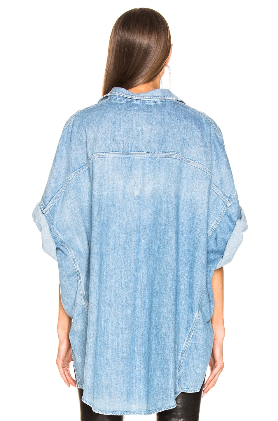 Image 3 of R13 Patti Oversized Short Sleeve Shirt in Timmy