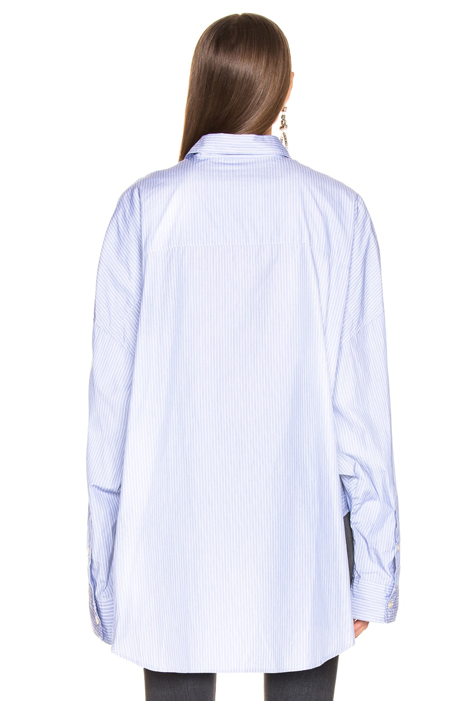 Image 4 of R13 Oversized Shirt in Blue Stripe