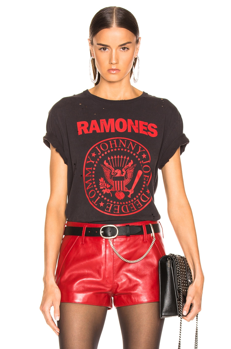 Image 1 of R13 Ramones Boy Tee in Washed Black