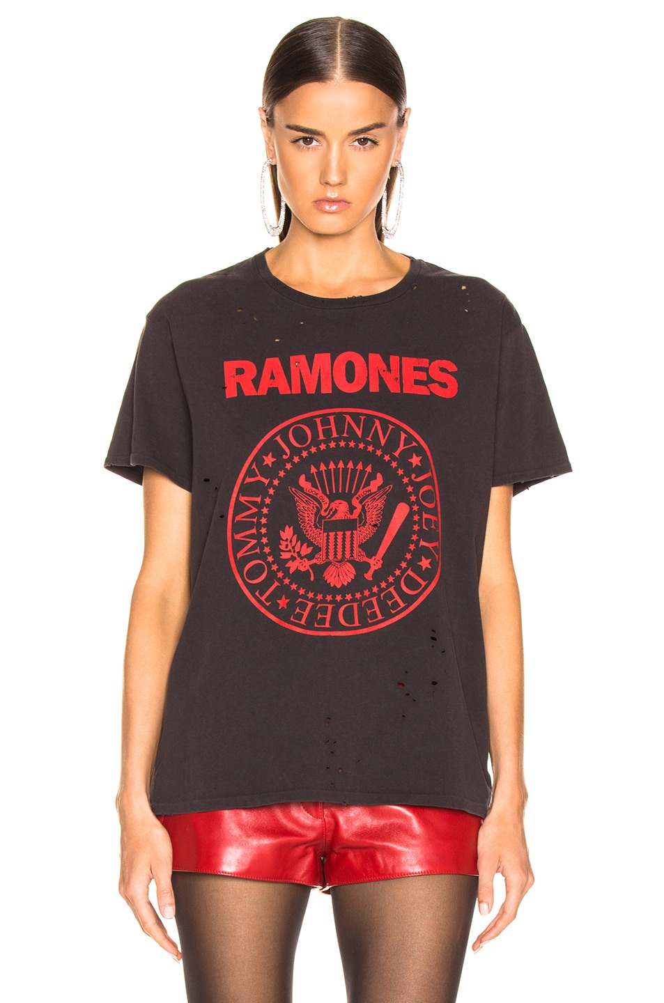 Image 2 of R13 Ramones Boy Tee in Washed Black