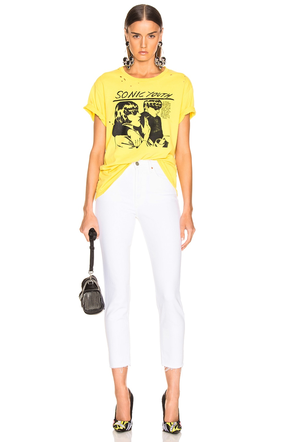 Image 4 of R13 Sonic Youth Boy Tee in Yellow