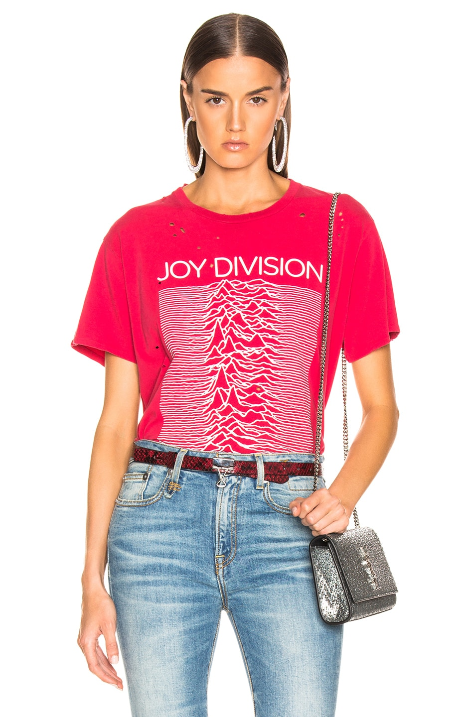 Image 1 of R13 Joy Division Boy Tee in Red