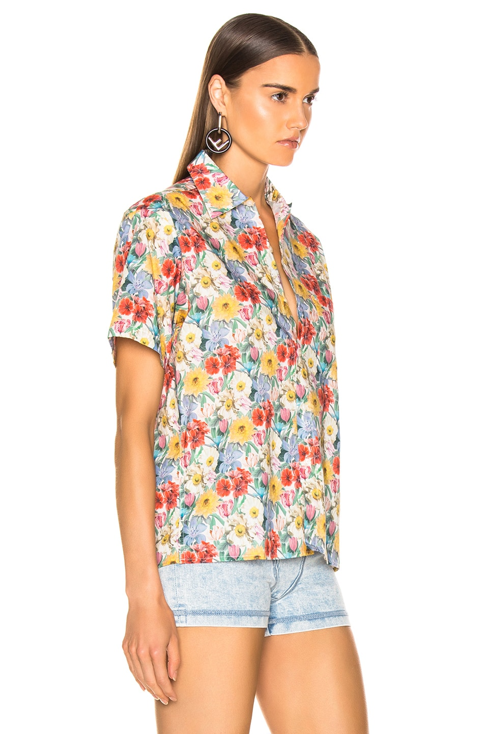 Image 2 of R13 Skater Shirt in Multicolor Floral